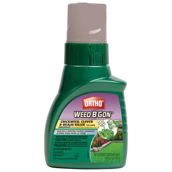 Weed - B - Gone Chickweed, Clover and Oxalis Killer for Lawns