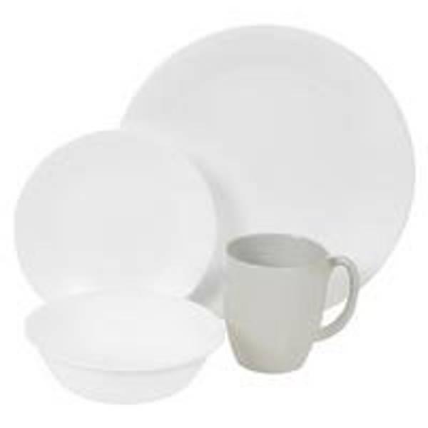 Winter Frost White Round Dinnerware Set