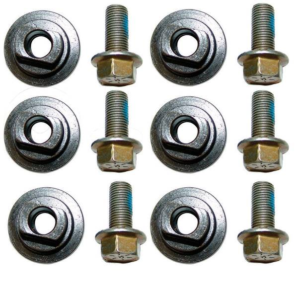 6 Pack Disc Mower Knife Bolt and Nut