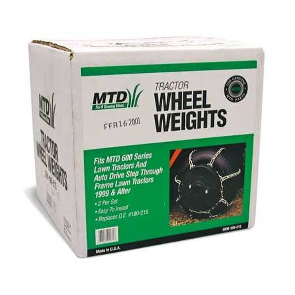 Mtd Lawn And Garden Tractor Wheel Weights