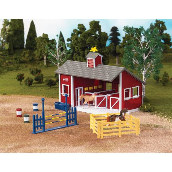 Red Stable Barn Set