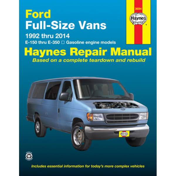 Ford Full Size Vans, '92-'14 Manual