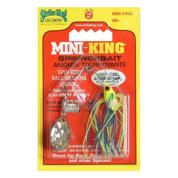Strike King Mini-King Chartreuse and Blue Spinnerbait thumbnail