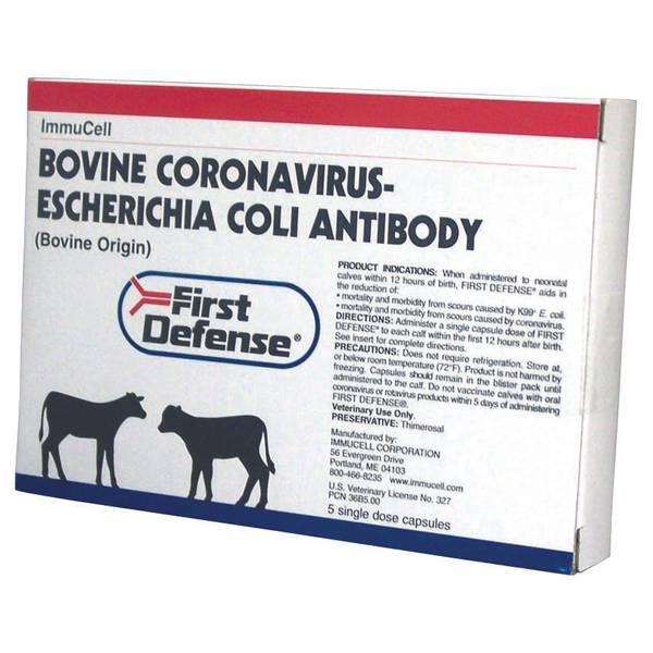 1st Defense Corona E-Coli Antibody