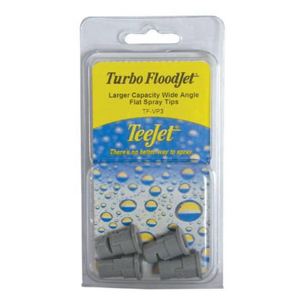 Turbo Flood Jet Larger Capacity Wide Angle Flat Spray Tips
