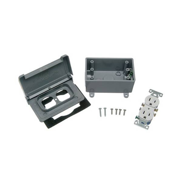 Single Gang Horizontal Duplex Kit