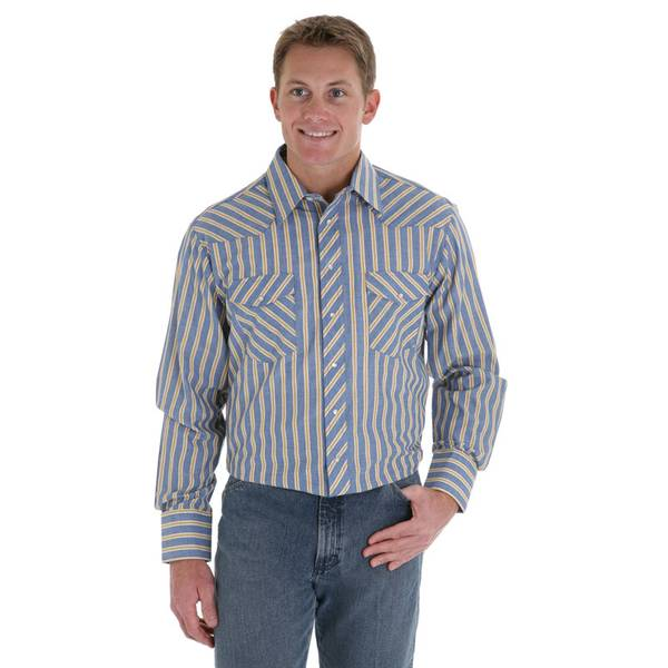Tall Men's Stripe Western Shirt