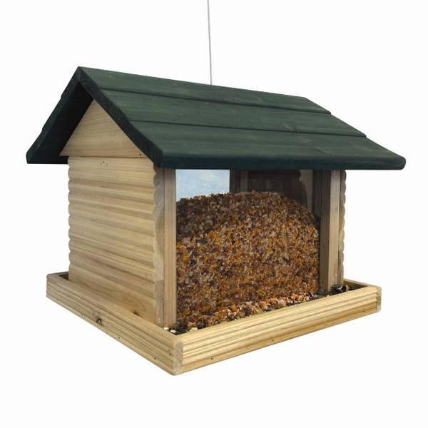 North States Industries, Inc. Wood Log Cabin Bird Feeder (362624 1553) photo