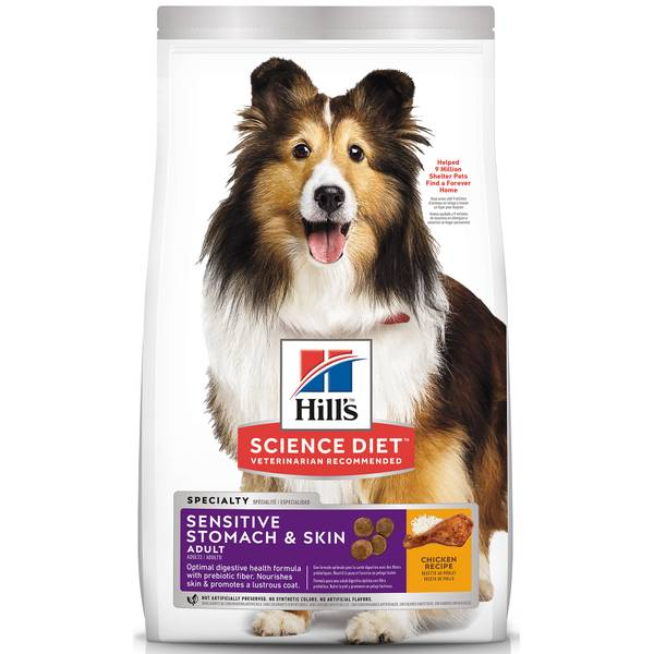 Science Diet Sensitive Stomach & Skin Chicken Meal & Barley Adult Dry Dog Food