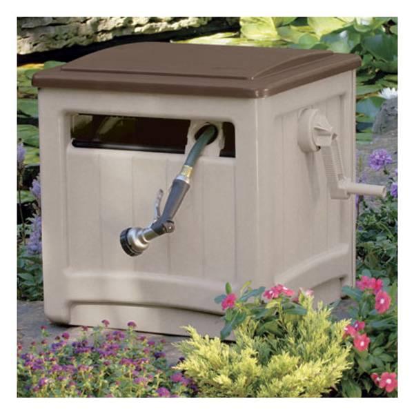 Suncast Hose Hideaway Reel With, Garden Hose Reel Box
