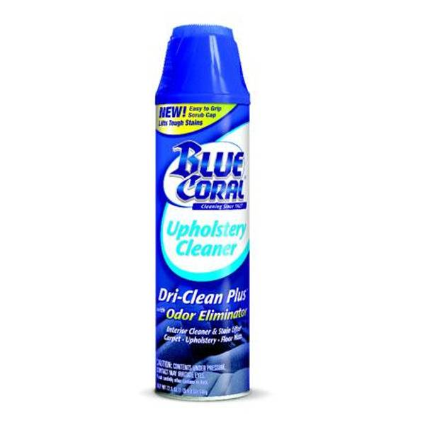 Blue Coral Upholstery Cleaner Dri Clean Foam Spray