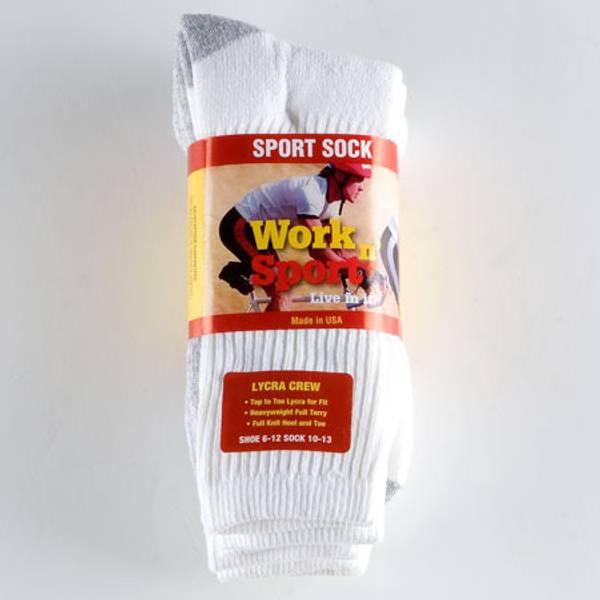 Lycra Crew Sport Socks