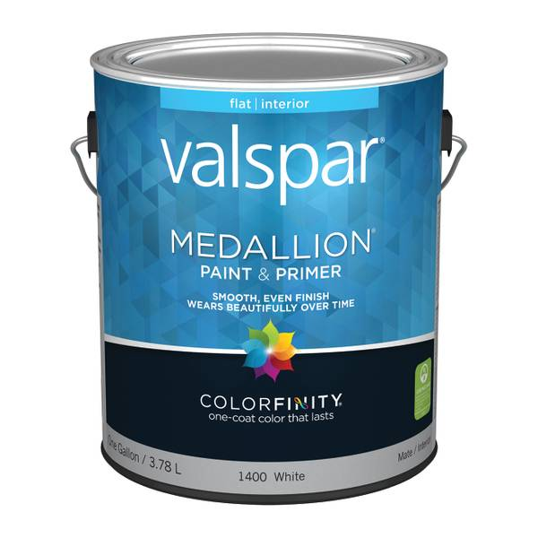 Valspar 1 Gallon Medallion Interior Flat Latex Wall Paint