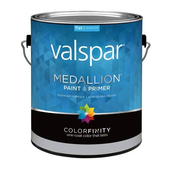 Valspar 1 Gallon Medallion Interior Flat Latex Wall Paint