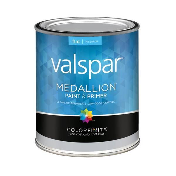 Valspar 1 Quart Medallion Interior Latex Flat Base Paint