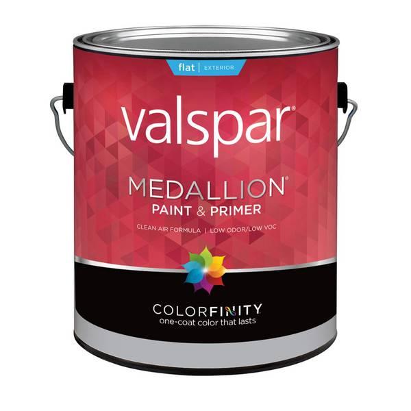 Valspar 1 Gallon Medallion Exterior Flat Latex House Paint