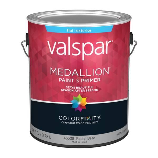 valspar 1 gallon medallion exterior flat latex house paint. Black Bedroom Furniture Sets. Home Design Ideas