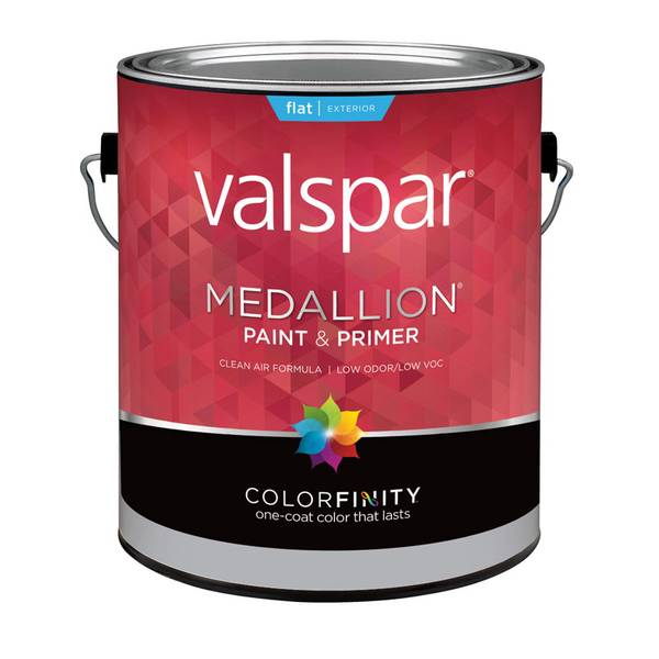 Valspar 1 Gallon Medallion Exterior Flat Latex House Paint