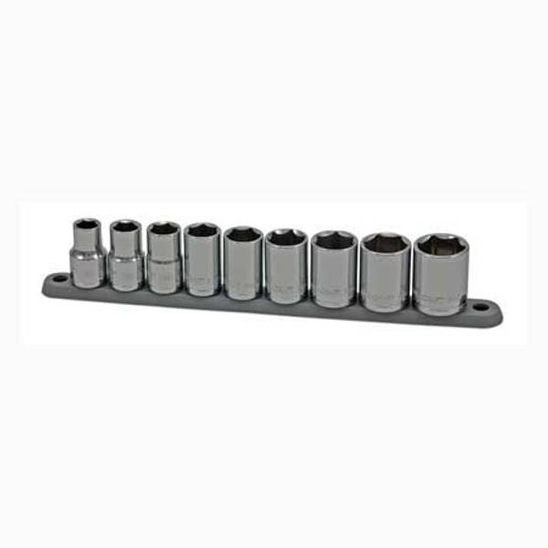 "9 Piece 1/2"" Drive 6 - Point SAE Socket Set"