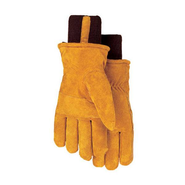 Men's Leather Lined Snow Cuff Gloves
