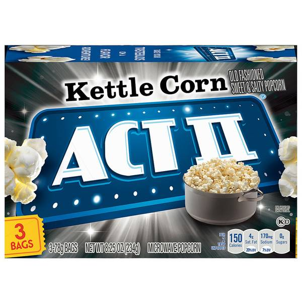Kettle Corn Microwave Popcorn 3 Pack