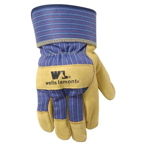 Men's Grain Pigskin Leather Palm Gloves