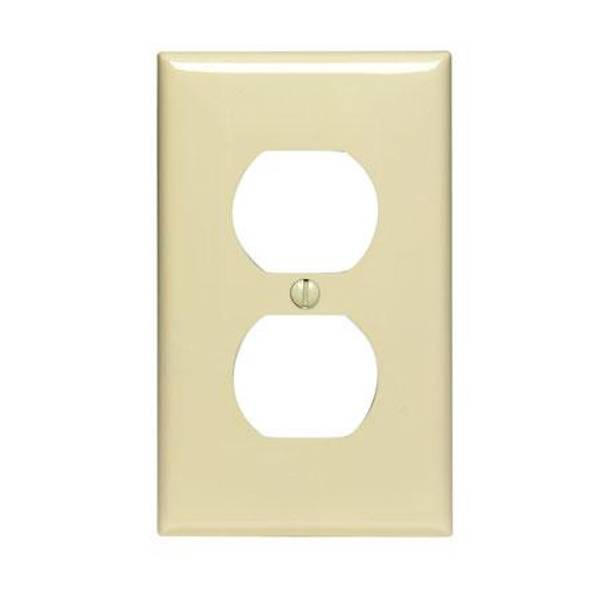 1 Gang 1 Duplex Nylon Outlet Wallplate