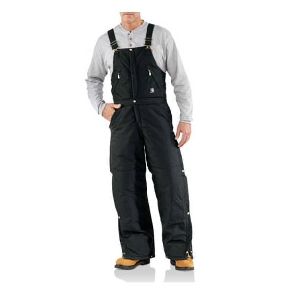 Men's Extremes Zip-to-Waist Arctic Quilt Lined Bib Overalls