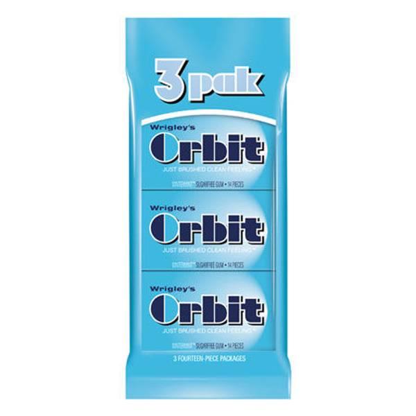 Orbit Sugar Free Chewing Gum 3 Pack