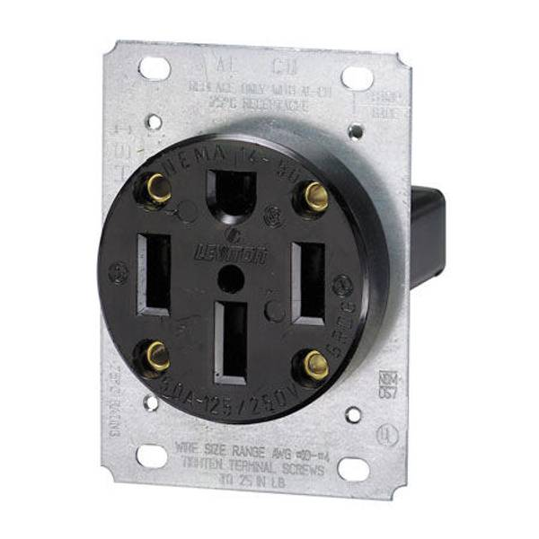 3 Pole 4 Wire Flush Mount Receptacle
