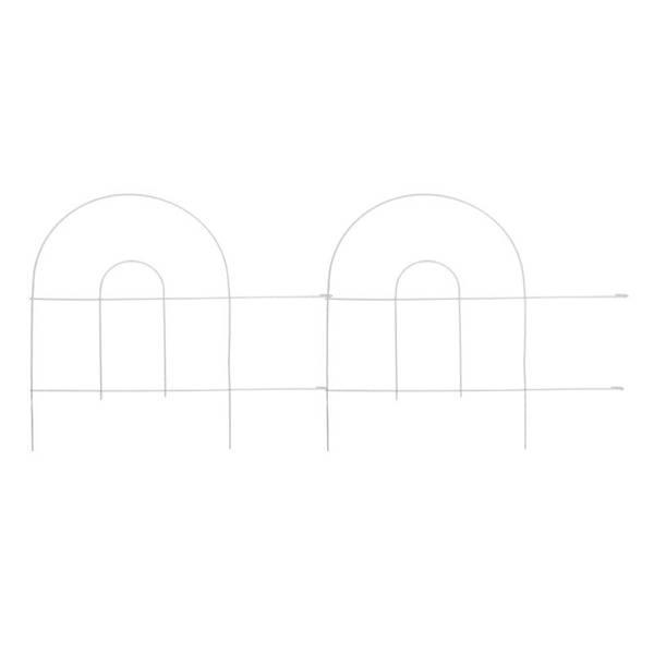 White Arch Folding Fence