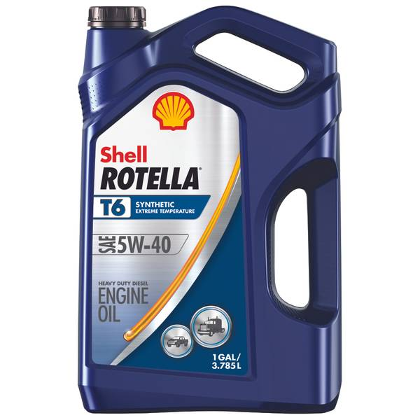 Shell Rotella T6 Synthetic Diesel 5W40 Motor Oil at Blain ...