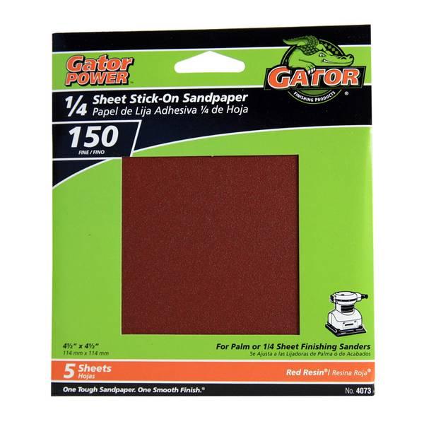 1/4 Sheet Stick - On Sandpaper 5 Pack