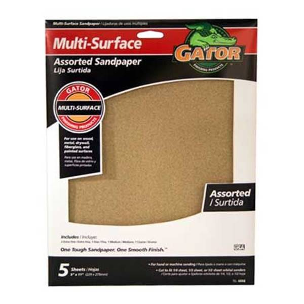 Multi - Surface Assorted Sandpaper 5 Pack