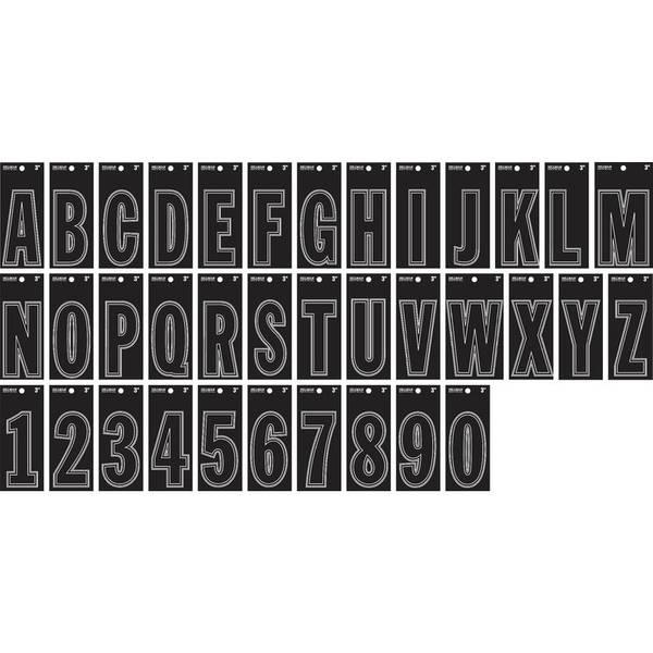 """3"""" Vinyl Die-Cut Black Letters & Numbers"""