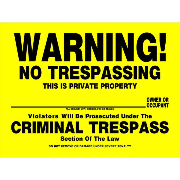 It is a graphic of Universal Printable No Trespassing Signs