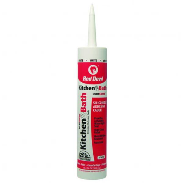 10.1 oz Kitchen and Bath Siliconized Acrylic Caulk