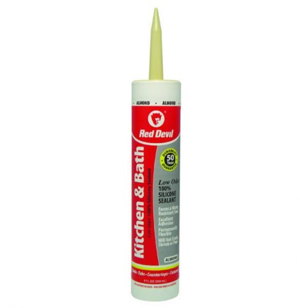 10.1 oz Kitchen and Bath Low Odor Silicone Sealant