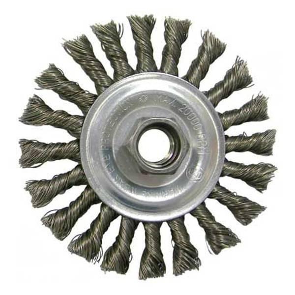 Vortec Pro Standard Twist Knot Wire Wheel with Threaded Arbor