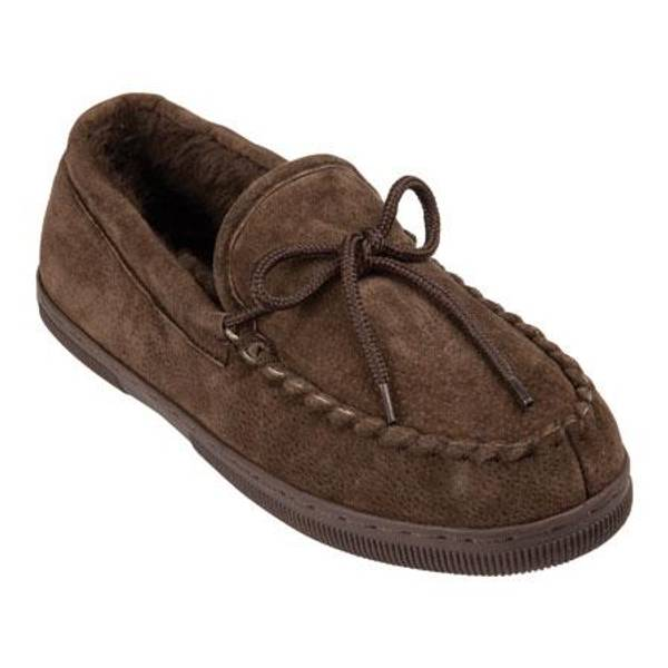 Men's Chocolate Moccasin Slippers