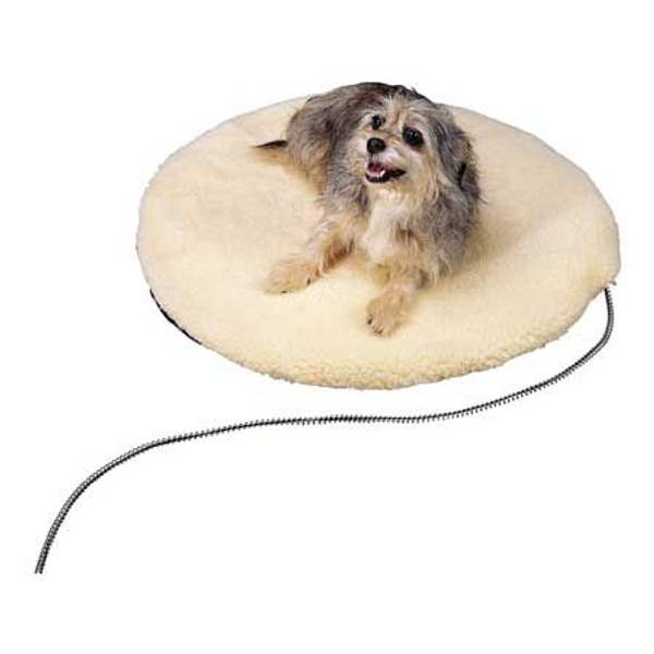 Round Heated Pet Bed