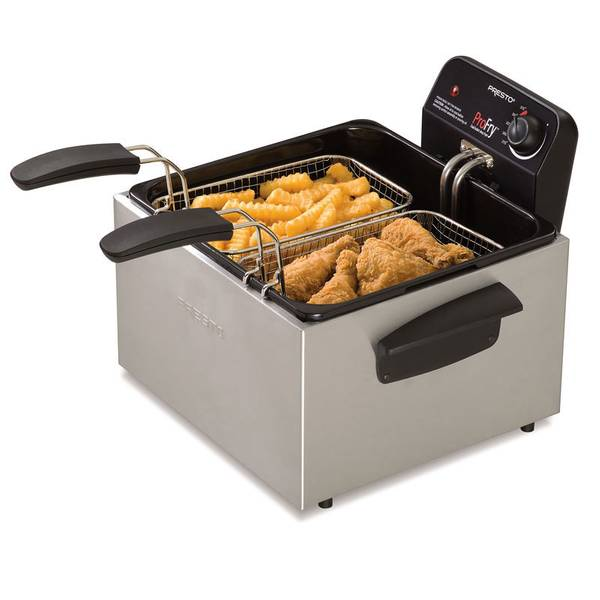 Stainless Steel Dual Basket ProFry Immersion Element Deep Fryer