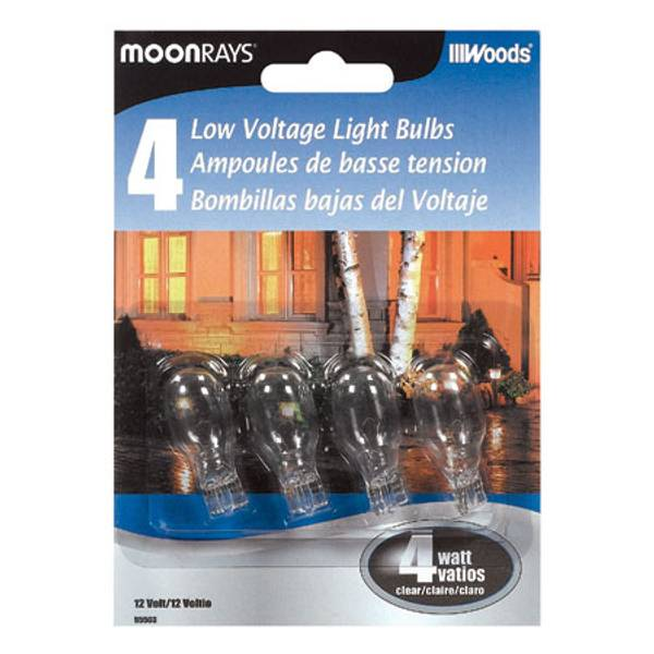 Clear Low Voltage Light Bulb 4 Pack