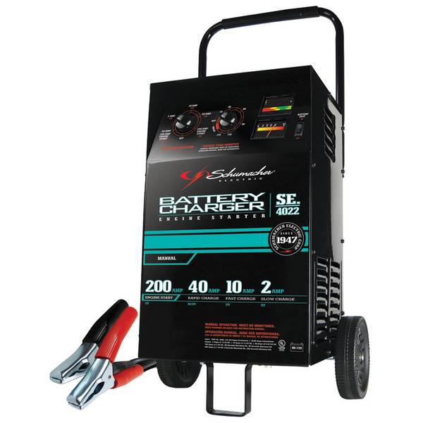 Manual Battery Charger with Engine Start and Battery Tester