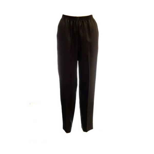 Misses Black Feather Touch Poly Pull - On Pants