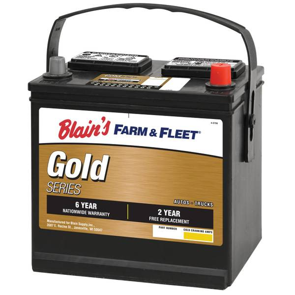6-Year Gold Automotive Battery