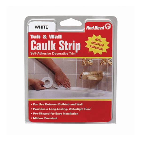 Tub and Wall Caulk Strip