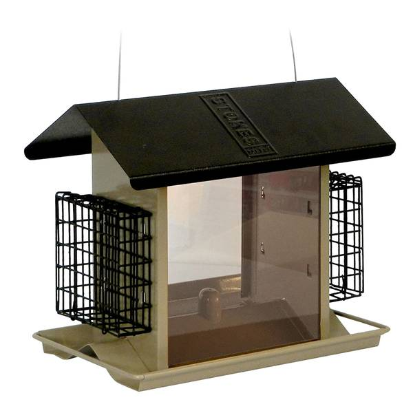 Large Hopper Feeder with Suet Holders