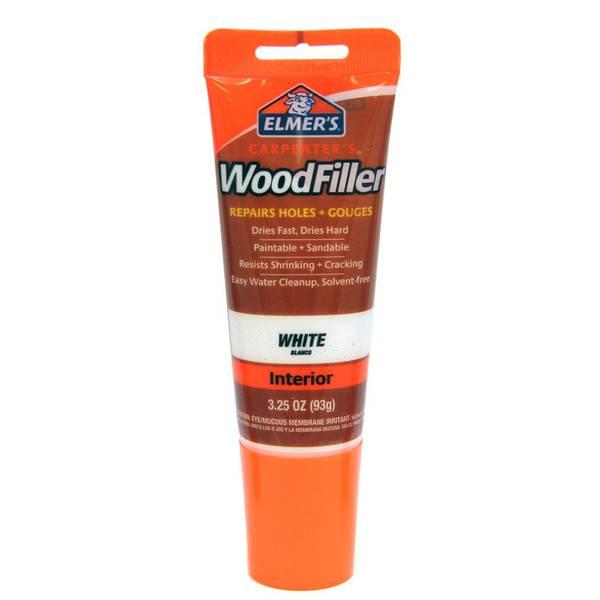 Elmer S Tinted Carpenter S Wood Filler Tube White E855