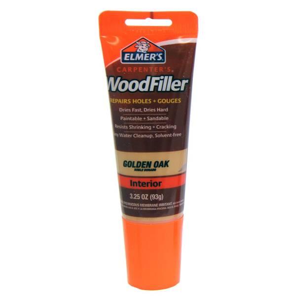 Paste Wood Filler For Oak Floors: Elmer's Tinted Carpenter's Wood Filler Tube, Golden Oak